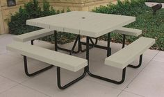 Square four sided picnic table 49 in tractor supply online store 4 square portable picnic table desert tan watchthetrailerfo