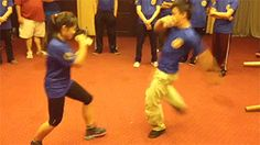 Girl who had been training Wing Chun for only two months (as of recording) executes a picture perfect oblique kick, countering a roundhouse kick by attacking the supporting leg. Lin dum tek in Wing Chun and Jeet Kune Do; Coup de pied bas or chassé...