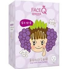 FaceQ Grape Seed + Green Tea Mask (10pc) by FaceQ. $15.29. Nourishes. Moisturizes. Wrinkle Care. Antioxidant. Face Q Grape Seed + Green Tea Mask has a unique micro-emulsion technology that turns nourishment into micro-emulsion particles which are smaller and easier to penetrate into the skin, thus improving moisture replenishment. Made from 100% wood pulp with silk, the mask fits your facial contour perfectly, rapidly infiltrates moisture for the skin. It leaves your ski...