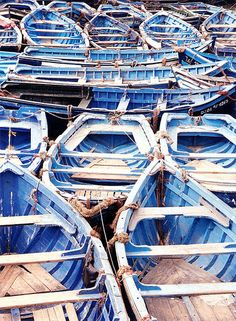 Essouira, Morocco: Blue Fishing Boats