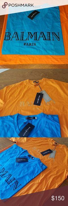 2 Balmain men's t shirts 2xl and 3xl Two brand-new men's Balmain t-shirts one 2XL one 3 XL Balmain Shirts Tees - Short Sleeve