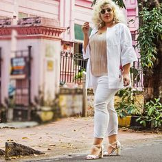all glammed up in those lovely block heel sandles! Buy these shoes at INR Stylish Sandals, Shoes Online, Block Heels, Capri Pants, Ankle Boots, Footwear, India, Collection, Shopping