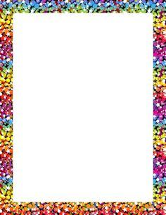 Rainbow Glitter Border