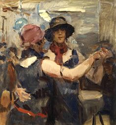 Isaac Israels (1865-1934) Women dancing at a cafe,