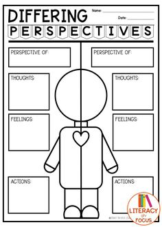 Differing perspectives graphic organizer. Free printable. Teach students how to analyze differing viewpoints. Digital and PDF. #freeprintable #graphicorganizer #perspectives