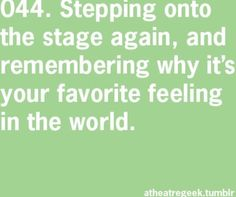 That is my FAVORITE feeling. TgTs the reason I love acting and performing in general❤️