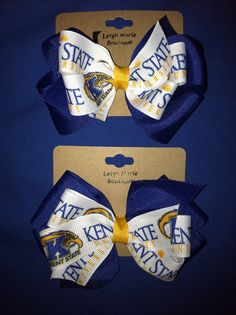 Kent State University Bow on Etsy, $6.50