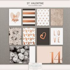 little lamm & co: New! St. Valentine Card set and a Freebie!