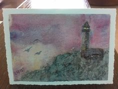 Watercolour Lighthouse greeting card | docrafts.com