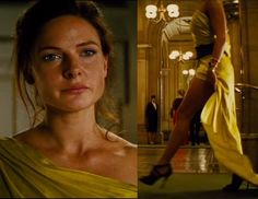 Mission Impossible : Rogue Nation / Rebecca Ferguson in yellow dress.