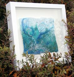 Healy & Burke Textile Art - Original Fine Art Felt Gallery - great frame - could be silk paper design