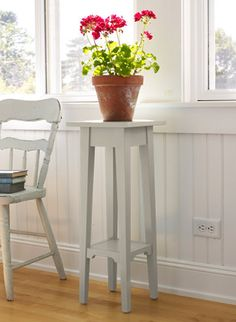 Discover the features of our Painted Cottage Plant Stand, 28 in. Our high qualityHome Goods are backed by a satisfaction guarantee. Red Cottage, Painted Cottage, Cottage Style, Painted Furniture, Home Furniture, Vases, Red Geraniums, Home Goods, Family Room