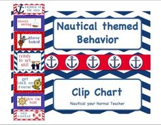 Great Nautical Behavior Clip chart!