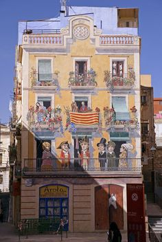 The Spanish city of Tarragona: mural in Sadassos Square
