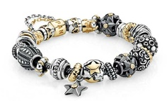 Wish Upon A Star Bracelet By Pandora Jewelry at WilkinsandOlander.com. I really like the contrasting shades.
