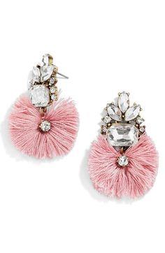Nordstrom Earrings - BaubleBar 'Flamenco' Drop Earrings available at Tassel Drop Earrings, Diamond Drop Earrings, Fringe Earrings, Dangle Earrings, Bling Bling, The Bling Ring, Fashion Jewelry, Women Jewelry, Mellow Yellow