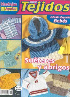 Tejidos Bebes 28 - 猫咪窝(4) - Álbuns da web do Picasa Crochet Girls, Crochet Baby, Knitting For Kids, Baby Knitting, Book Crafts, Craft Books, Crochet Magazine, Crochet Books, Baby Sweaters