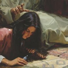 picture of mary washing jesus feet | Jesus anointed at Bethany, by James Woodward.