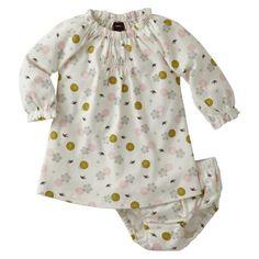 Tori Shirred Neck Dress - 3/6 months