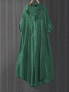 O-NEWE Summer Plaid Pockets Loose Plus Size Long Shirt can cover your body well, make you more sexy, Newchic offer cheap plus size fashion tops for women. Kids Blouse Designs, Western Dresses, Plus Size Blouses, Chic Outfits, Latest Fashion Trends, Plus Size Fashion, Designer Dresses, Plaid, Shirt Dress