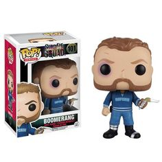 This is a Funko Suicide Squad POP Boomerang Vinyl Figure that's produced by the nice folks over at Funko. It's great to see a DC character like Boomerang in Fun Figurines D'action, Pop Figurine, Pop Vinyl Figures, Funko Pop Figures, Harley Quinn, Dreamworks, Suicide Squad, Chibi, Deadshot