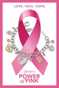Pink Jewelry, Cute Jewelry, Remembering Mom, Pink Power, Pink Accessories, Brighton Jewelry, Awareness Ribbons, Breast Cancer Awareness, Tattoos