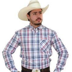 7d7a88120b068 camisa xadrez country masculina com chapeu