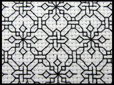 blackwork embroidery design | Blackwork design | Blackwork Embroidery