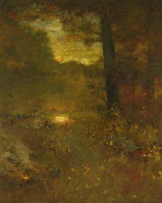 Evening landscape, George Inness.