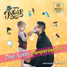 Even Dad needs pampering too! This Father's Day, make him feel relaxed and pampered by enjoying our premium services. Visit our salon along with your dad to make him feel more special on his day. For queries and booking an appointment call us on 6354 689 He Day, Appointments, Fathers Day, Salons, Dads, Feelings, How To Make, Lounges, Fathers