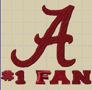 Hey, I found this really awesome Etsy listing at https://www.etsy.com/listing/176287771/university-of-alabama-fan-embroidery
