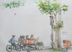 [18.10.2014] Dist.1 HCMC #pen #watercolor
