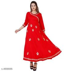 Kurtis & Kurtas Women's Embroidered Rayon Kurti Fabric: Rayon Sleeve Length: Three-Quarter Sleeves Pattern: Embroidered Combo of: Single Size: M - 38 in  L - 40 in  XL - 42 in  XXL - 44 in  XXXL - 46 in Country of Origin: India Sizes Available: S, M, L, XL, XXL, XXXL   Catalog Rating: ★4.1 (465)  Catalog Name: Modern Fancy Women's Kurtis Vol 1 CatalogID_716377 C74-SC1001 Code: 804-4898099-