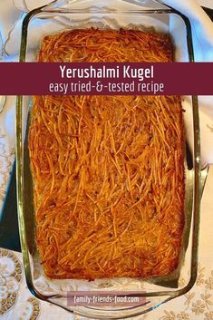 The classic taste of Yerushalmi Kugel – aka Jerusalem kugel – without any of the fuss! Your family will love this easy and delicious sweet-and-spicy baked lokshen (noodle) kugel flavoured with caramel and black pepper. #kugel #yerushalmikugel #noodles #lokshen #jewishfood #jewish #deliciousfood #easyrecipe