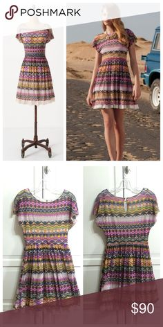 """Anthro 'FLARED CARAZ DRESS' The ultimate flexible frock, we'd dress it down with flats and tiny posts, or up with heels and a statement necklace. By Weston Wear Keyhole nape  Nylon; polyester lining  Hand wash   Regular: 35""""L Anthropologie Dresses"""