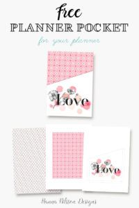 Beautiful printable planner pocket. Add some more storage to your planner with this free planner pocket.