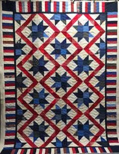 Katy: Here is the second in this batch of Quilts of Valor for the Stitching Sisters group. As usual, I am just quilting these lovely tops so I do not have any pattern info available. I kept the quilting … Star Quilt Blocks, Quilt Block Patterns, Lap Quilts, Scrappy Quilts, Quilting Projects, Quilting Designs, Quilting Ideas, American Flag Quilt, Quilt Of Valor