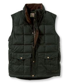 L.L. Bean Waxed Cotton Down Vest
