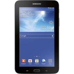 Samsung - Galaxy Tab 3 Lite - 8GB - Dark Gray - Front Zoom