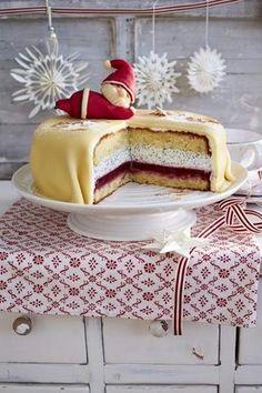 Orangen mohn marzipan torte