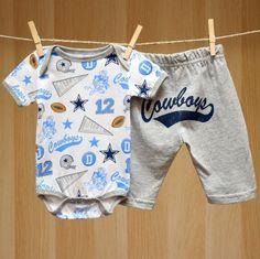 Cowboys Baby 2PC Inspired Onesie Pants Set
