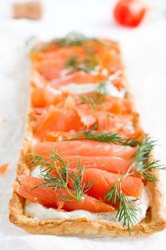 haseimglueck.de Rezept, Lachs-Tarte mit Frischkäse & Meerrettich #ichbacksmir #frühstück #breakfast