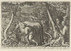 Philips Galle   Jacht op patrijzen, Philips Galle, 1578   Jacht op patrijzen door middel van camouflage. De prent heeft een Latijns onderschrift en maakt deel uit van een 43-delige serie over de jacht.