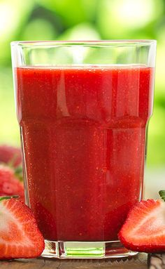 Strawberry Sorbet Smoothie