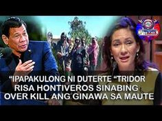 RISA HONTIVEROS IPINAGTANGGOL ANG MAUTE GROUP KAKASUHAN NI PRESIDENT DUTERTE PAGTAKSIL SA BAYAN Duterte has expressed his desire to build on the stellar accomplishments of the administration of outgoing president Benigno Aquino III particularly the latters good governance initiatives and critical structural reforms that transformed the Philippines from being the sick man of Asia into Asias rising tiger. Of his ten-point socioeconomic agenda revealed on Monday June 20 for example his first…