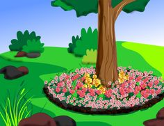 wikiHow to Create Tree Flower Beds -- via wikiHow.com
