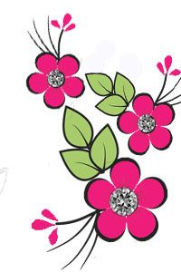 Easy Flower Drawings, Colorful Drawings, Easy Drawings, Flower Outline, Flower Art, Hand Embroidery Flowers, Embroidery Patterns, Flower Doodles, Watercolor Cards
