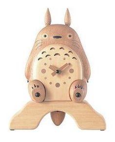 Totoro Wooden Clock