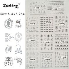 2017 New Arrival Different Shapes Water Transfer Nail Sticker Fashion Silver Design Nail Art Decorations Skull Nail Stickers -in Stickers & Decals from Beauty & Health on Aliexpress.com   Alibaba Group