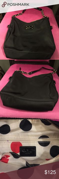 Huge Nylon Kate ♠️ Spade This beauty measures 14 x 10 - just the bag not the handles!! Will go quick!!! 😊 kate spade Bags Shoulder Bags